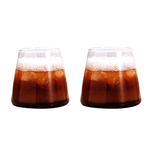 Vasos de Agua Gafas de Whisky, de Cristal Claro de Copas, Vidrio, diseño for el hogar y la Cocina, Tomando sin Plomo soplado a Mano de Cristal Vieja de Moda Vasos de Cristal (Size : L(2 Pcs))