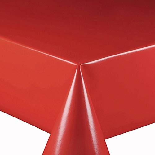 Wachstuch Wachstischdecke Tischdecke Gartentischdecke Glatt UNI Rot Breite & Länge wählbar 80 x 120 cm Eckig abwaschbar