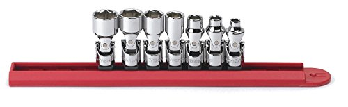 GEARWRENCH 7 Pc. 1/4' Drive 6 Pt. Flex Socket Set, SAE - 80310D