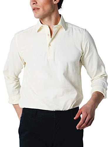 Scalpers New POLERA PPT Shirt - Camisa para Hombre,Talla 40, Color Amarillo Claro