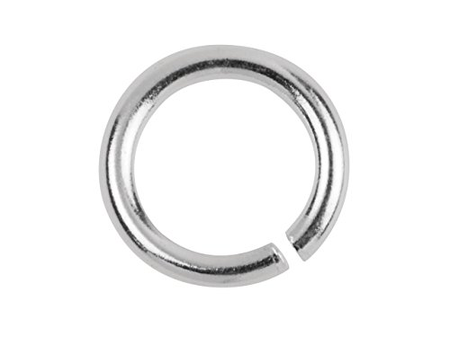 Sterling Silver Open Jump Rings 18ga 6mm (20pcs) by BeadUnion