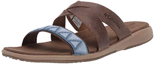 Columbia Femme Sandales, SOLANA SLIDE, Taille 42, Brun (Saddle, Dark Mirage)