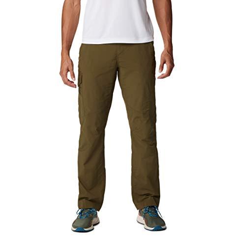 Columbia Pantalón Cargo Silver Ridge de 34 Pulgadas para Hombre, Hombre, Silver Ridge - Pantalón Cargo, 1441685, Nuevo Oliva, 48W / 34L