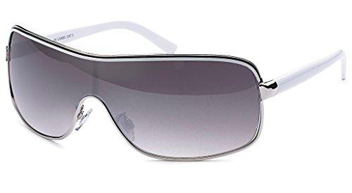 UVprotect leichte Damen oversize Monoglas sportlicher fashion Style Sonnenbrille lila Verlauf weisse Bügel W71-6