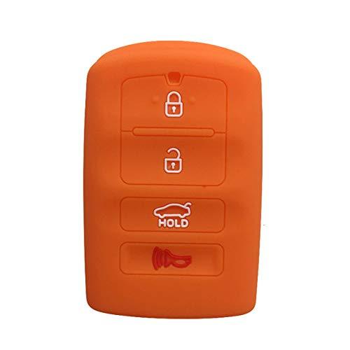 LOOIUEX Silicone Key Cover Funda para Llave de Gel de sílice Fob para KIA K9 Cadenza K7 Smart Remote Key Jacket Case Car-Styling Funda para Alarma de Llavero, Naranja