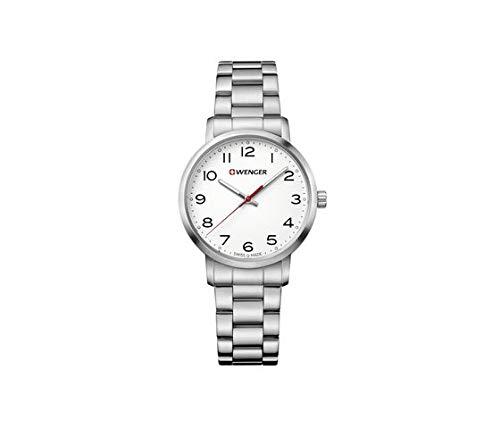 Wenger Mujer Avenue - Reloj de Acero Inoxidable de Cuarzo analógico de fabricación Suiza 01.1621.104