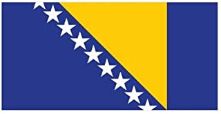 Bosnian and Herzegovinian Flag Sticker Decal Vinyl Made in USA