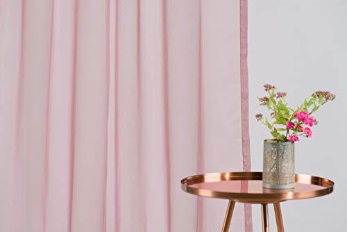 Home Textiles Mendola 10–14Voile T05–300Tenda Voile 300x 245cm, Lilla
