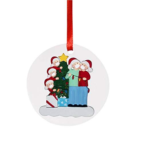 Mirlise Cute Santa Claus Wearing_mask Decoration Christmas Tree Ornaments 2020 Christmas Holiday Souvenir