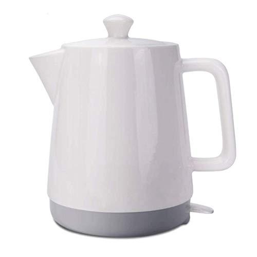 Wghz Hervidor de cerámica eléctrico Hervidor inalámbrico 1.5L Tradicional Fondo Blanco Fondo Gris Jarra Hervir Agua rápido para té Sopa de café Avena