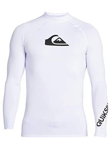 Quiksilver Herren L/sl Surf Tee All Time - Langärmliger Rashguard mit UPF 50 für Männer, White, XL, EQYWR03240