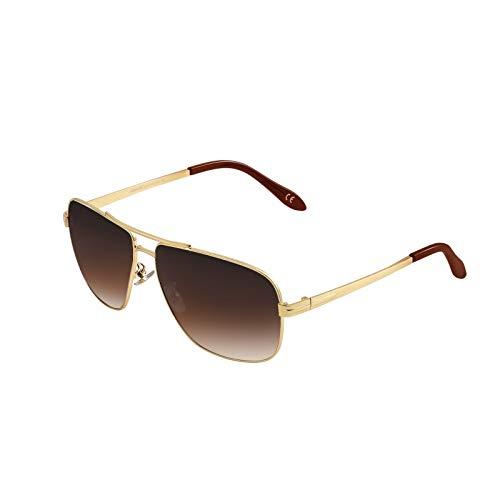 PORPEE Gafas de Sol Hombre Mujer Polarizadas Súper Ligero Al-Mg Marco De Metal   Nylon Polarizado HD   100% UV400 Protection