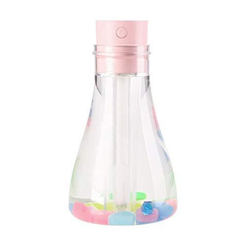 #N/V Botella de deseos humidificador mini purificador de aire regalo personalidad decoración medidor de agua luminoso adición