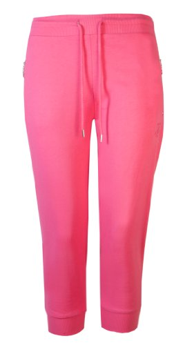 Brody & Co 3/4-dames-joggingbroek, met rits en geribbelde boorden, voor dans, gymnastiek, yoga, workout