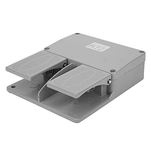 Interruptor de pie doble Interruptores eléctricos Antideslizante 10A Interruptor de pedal de metal momentáneo Interruptor de pie industrial