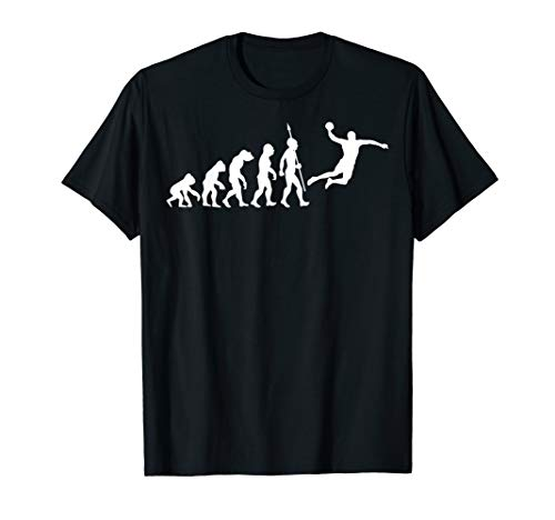 Handball Evolution Fun T-Shirt Handballspieler Handballer