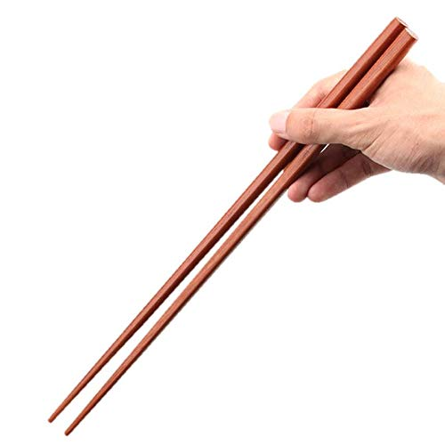 Estart, 4 paia di bacchette in legno extra lunghe, riutilizzabili per friggere in pentola calda, tagliatelle da cucina, 42 cm
