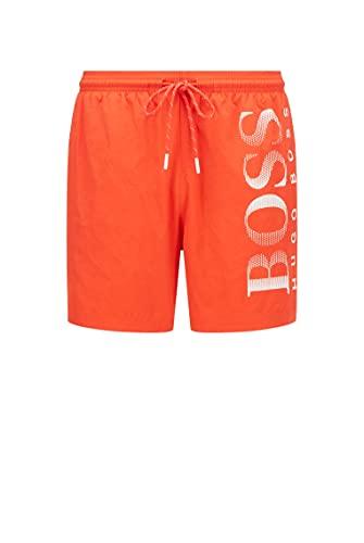 BOSS Herren Octopus Badehose, Bright Orange823, XL