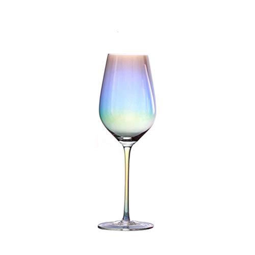 WENYOG Copas De Vino Crystal Cristal de la Boda del Arco Iris del Vino del cubilete cóctel Vasos de champán de Cristal sin pie 08 (Color : Burgundy Glass 2)