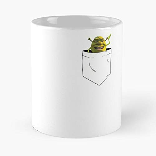 Mike Monster Wazowski Shrek Inc Meme Taza de café con Leche 11 oz