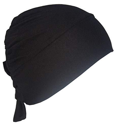Unisex-Kappe Aus Baumwolle Mit Binde An Der Rückseite (Schwarz)