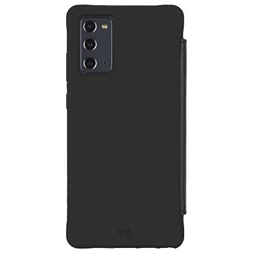 Case-Mate - Case for Samsung Galaxy Note 20 5G - Leather Wallet Folio w/Micropel - 6.7 - Black