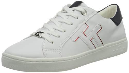 TOM TAILOR Damen 1192607 Sneaker, Weiß, 39 EU