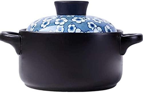 HYYDP Cacerolas Cazuela de Arcilla Pot Terracotta Stef Pot Casserole Casserole Clay Pot - Durable, Ahorro Tiempo y Energía, Lavavajillas Seguro (Color : A, Size : Capacity1.5L)