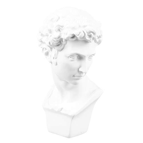 CLISPEED David Skulptur Dekor David Büsten Statue Porträt Porträt Charakter Skulptur Handwerk Wohnkultur für Büro Tisch Ornament