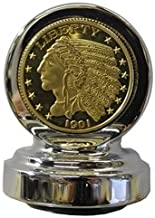 Indian Chief Dipstick Chrome W/Gold Coin - CI-1037CG
