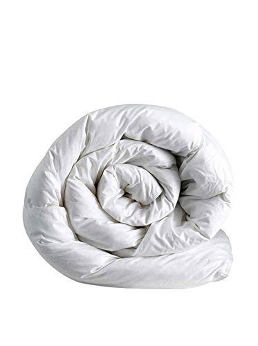 Italian Bed Linen Invernale a Una Piazza e Mezza, Poliestere, Microfibra, Bianco, 200 x 200 cm