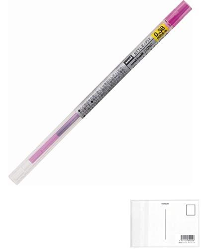 三菱鉛筆 スタイルフィット ゲルインク ボールペン 替え芯 ユニボール シグノ 0.38mm ピンク 5個セット + 画材屋ドットコム ポストカードA