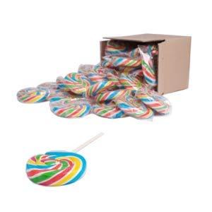 "Code 0732 / 2.5 – Swirly Rainbow Lollipops 2.5 ""- Pak van 50"