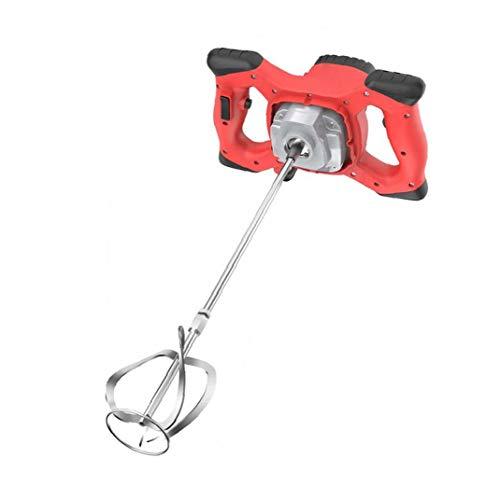Sanfiyya Cemento Hormigón Yeso eléctrica portátil Taladro Herramienta de agitación del Mezclador eléctrico 2100W Mortero Mezclador Rojo