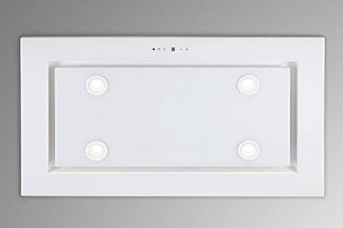 Luxus Deckenhaube 96cm/Weißglas Design/Inlusive Saugstarken Motor 925m³/h/Dunstabzugshaube/Inkluisve Fernbedienung/4x2 W Power LED Beleuchtung/4 Stufen mit 1 Turbostufe/Nachlaufautomatik/Deckenlüfter