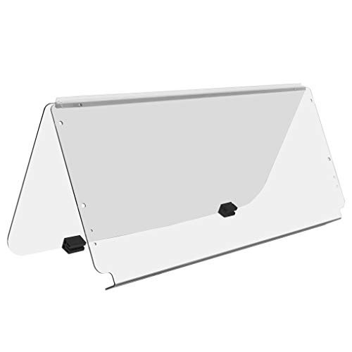 ECOTRIC Clear Fold Down Windshield Compatible with 1982-2000.5 Club Car DS | Impact Resistant Golf Cart DS Model