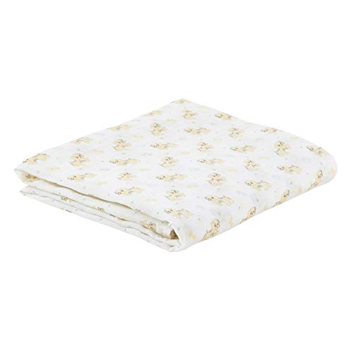 Stephan Baby Viscose Cotton Muslin Swaddle Blanket, Pete the Pupp