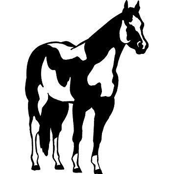 Sellify 15cm10.7cm Caballo de pie Pony Colt Pintura Musting heno de Hierba...
