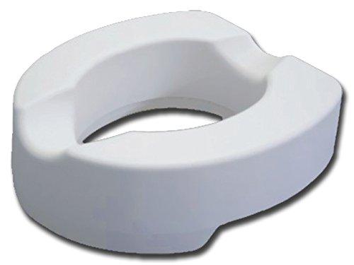 Gima Rialzo WC, Alzawater anatomico con sistema di fissaggio laterale, portata 225 kg, Altezza 14 cm