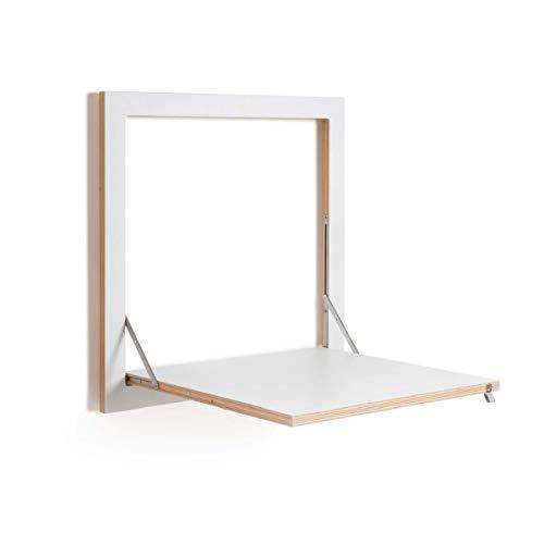 Ambivalenz - Fläpps - Klapptisch, Küchentisch, Esstisch - klappbar - (LxB): 50 x 50 cm - Weiß