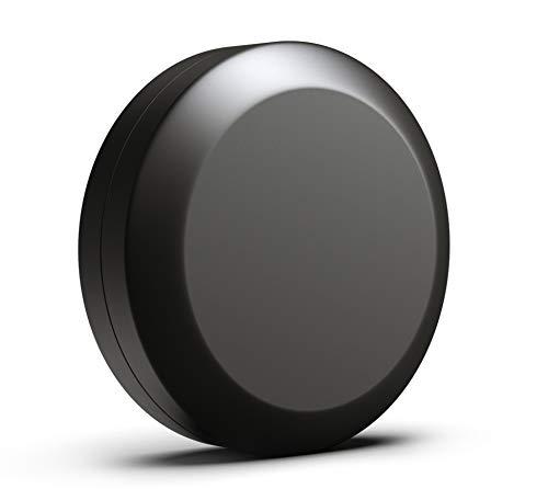 JCASE Stabile Stash Metall Dose I Luftdicht I Wasserdicht I ø55x23mm I UV Licht geschützte Box für Pillen, Kräuter und Gewürze (Black)