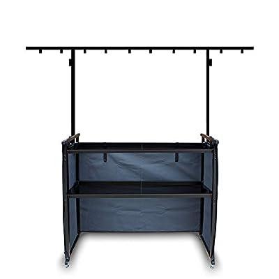 Ekho 4ft DJ Stand + Lighting Rig + Shelves + Curtain