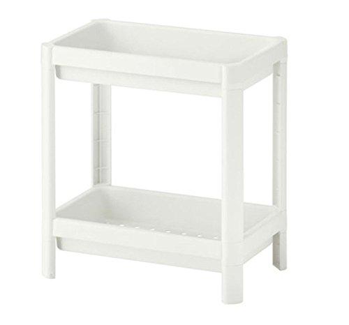 IKEA VESKEN Estantería con 2 niveles, color blanco (36 x 23