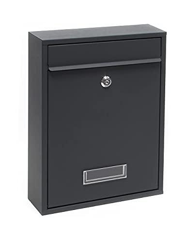 Kippen 10005AN Cassetta Postale Modello Mail-Colore Nero, Nera, Dimensioni: 320x215x90 mm