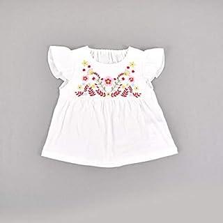 スラップスリップ(SLAP SLIP) ローン+天竺フラワー刺繍Tシャツ