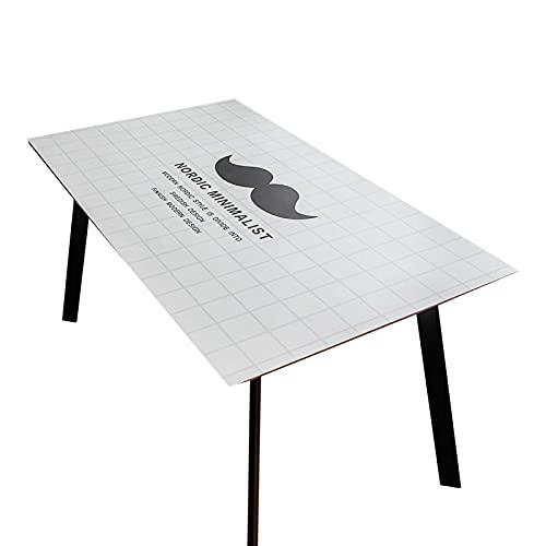 Liujiu - Mantel de PVC con hule rectangular – Mantel rectangular de plástico vinilo, fácil de limpiar, tela encerada, 70 x 135 cm