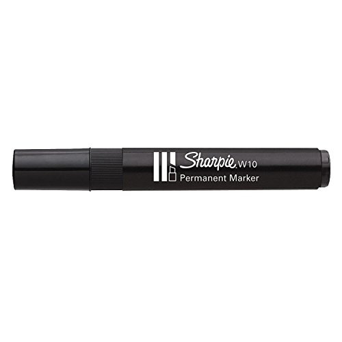 Sharpie W10 chisel tip black ink permanent marker x 1 single pen