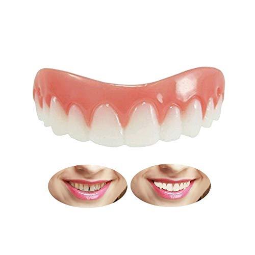 Quick Dental Provisorischer Zahnersatz Zahnprothese Veneer für Oberkiefer, Kosmetische Zähne Sofortiges Lächeln Zähne Prothese Für ein perfektes Lächeln