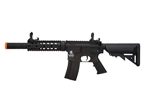 Lancer Tactical Gen 2 Airsoft Rifle SD M4 GEN 2 Polymer- Electric Full/Semi-Auto Airsoft AEG Rifle with 0.20g BBS, Included Charger and Battery… (Black High FPS)