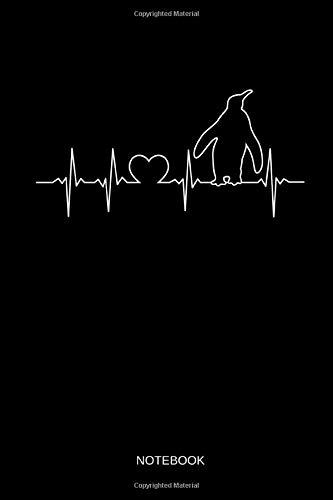 Penguin - Notebook: Heartbeat Penguin Notebook   Journal. Funny Penguins Accessories & Novelty Penguin Gift Idea.